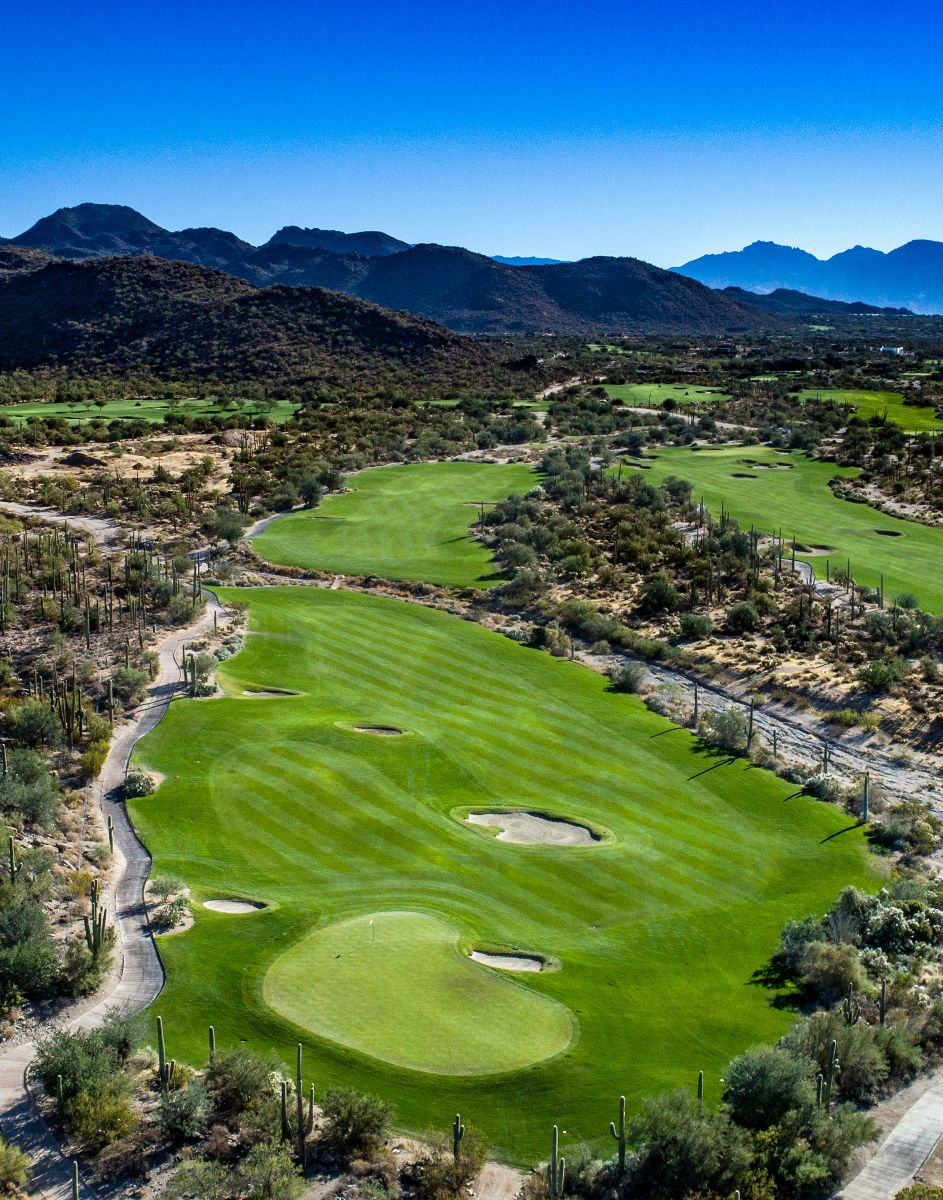 Aerial view of hole 2 on the Tortolita course